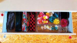 accessoires beauté rangement compartiments séparateurs organiser