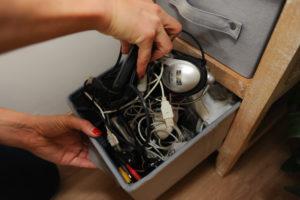 électronique électrique rangement organisation légèreté
