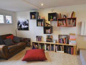 livres bibliothèque organizing home